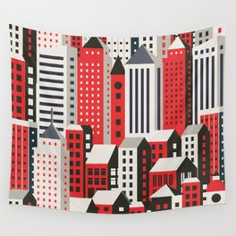 Urban city Wall Tapestry
