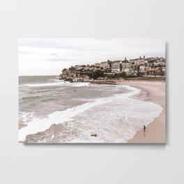 Bondi Beach, Australia Beach Wall Art Metal Print