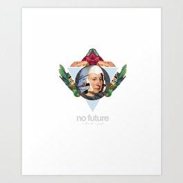 No future (Without a past) Art Print