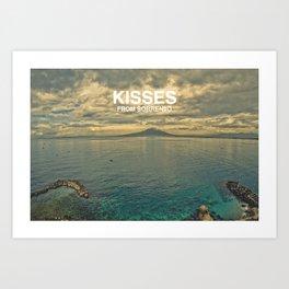 Kisses from Sorrento Art Print
