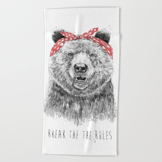 Break the rules Beach Towel