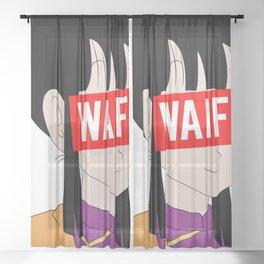 ChiChi Waifu Sheer Curtain