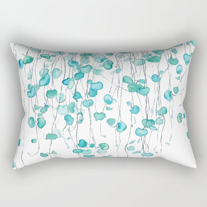 string of hearts watercolor Rectangular Pillow