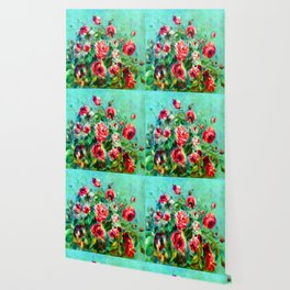 Renoir Roses of Vargemont Wallpaper