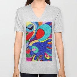 Crayon Mom Color Pop Unisex V-Neck
