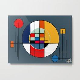 abstract art geometric Metal Print