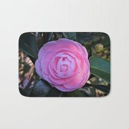Pink Camellia Flower Blossom Bath Mat