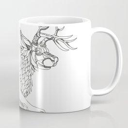 Jackalope Hopping Doodle Art Coffee Mug