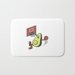 Avocado Playing Basketball Bath Mat