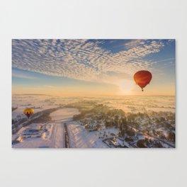 Floating Sunrise Canvas Print