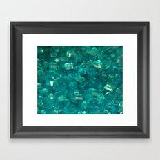 Blue Sugar Crystals Framed Art Print