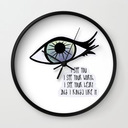 I See You / Care Wall Clock
