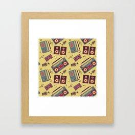 retro gadgets pattern Framed Art Print