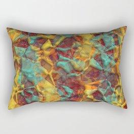 Stylish Colorful Artistic 3D Polygon Mosaic Pattern Rectangular Pillow
