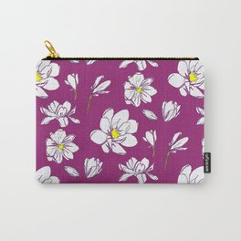 Magnolia Raspberry Carry-All Pouch