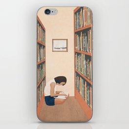 Getting Lost in a Book iPhone Skin