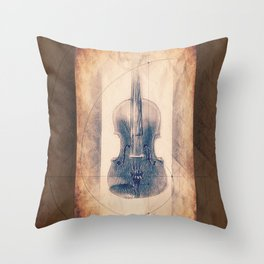 Stradivarius Spiral Violin Throw Pillow
