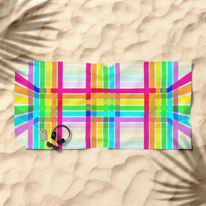 Weaved Rainbow Beach Towel