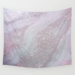 Elegant Pink Polished Marble Wall Tapestry