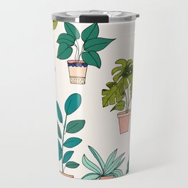 House Plants illustration Travel Mug