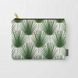 Simple Palm Leaf Geometry Carry-All Pouch
