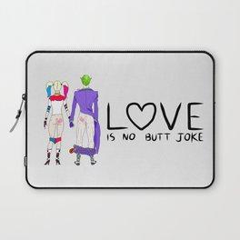 LOVE is no BUTT Joke - Handwritten Laptop Sleeve