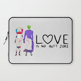 LOVE is no BUTT Joke - Handwritten Laptop Sleeve