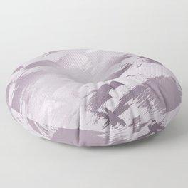 Blush lavender purple abstract glitter brushstrokes Floor Pillow