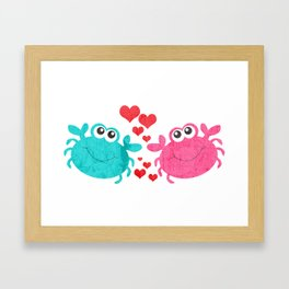Love Crab Framed Art Print