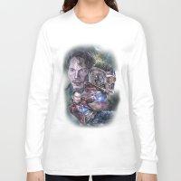 star lord Long Sleeve T-shirts featuring Star Lord - Galaxy Guardian by Nina Palumbo Illustration