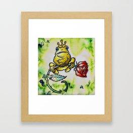Prince Charming Frog, The Frog Prince Framed Art Print
