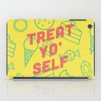 treat yo self iPad Cases featuring Treat Yo' Self by Zeke Tucker