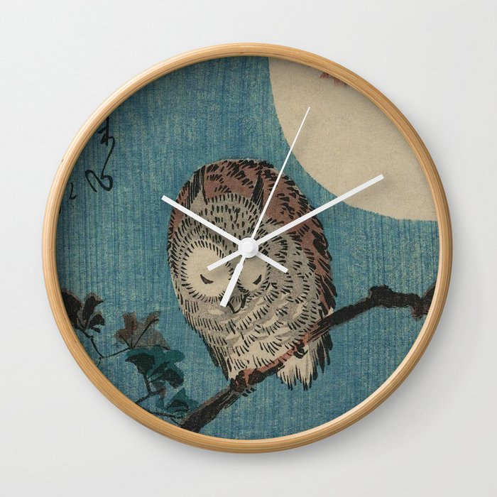 Vintage Japanese Owl Wall Clock