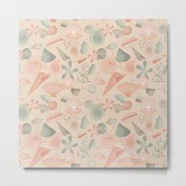 Pastel seashells Metal Print