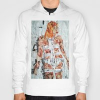 fifth element Hoodies featuring LEELOO THE FIFTH ELEMENT by JANUARY FROST