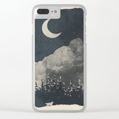 Winter Finds the Wolf... Clear iPhone Case