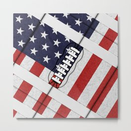 4th of July American Football Fanatic Metal Print