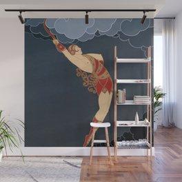 "Art Deco Illustration ""The Dancer"" Wall Mural"