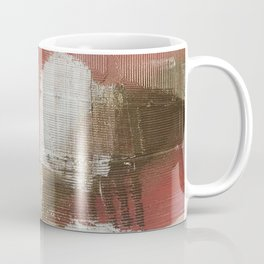 The Little Things: a minimal, abstract piece in reds and gold by Alyssa Hamilton Art Coffee Mug