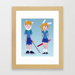 Finn and Fionna Framed Art Print