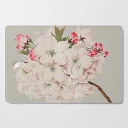 Vintage Japanese Watercolor - Mikuruma Gaeshi Cutting Board