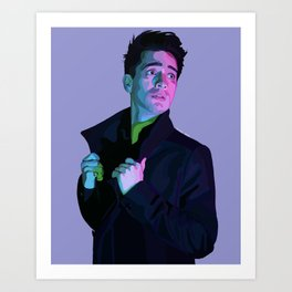 Panic Brendon Digital Portrait  Art Print