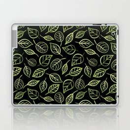 Green and black leaves pattern Laptop & iPad Skin
