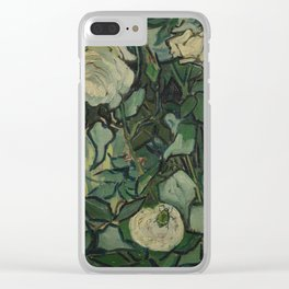 "Vincent Van Gogh ""Roses"" Clear iPhone Case"