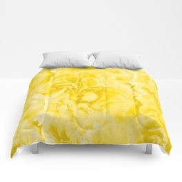 Yellow Peony Petals in Close-up #decor #society6 #buyart Comforters