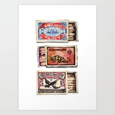 Matchboxes Art Print