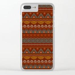 tribal pattern  vinous Clear iPhone Case