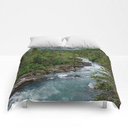 Alaska River Canyon - II Comforters