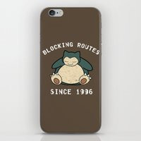 snorlax iPhone & iPod Skins featuring Snorlax by jeice27