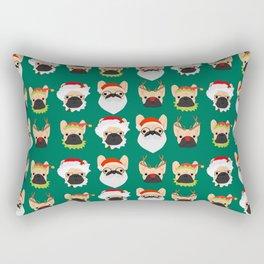 Xmas Bulldogs Rectangular Pillow